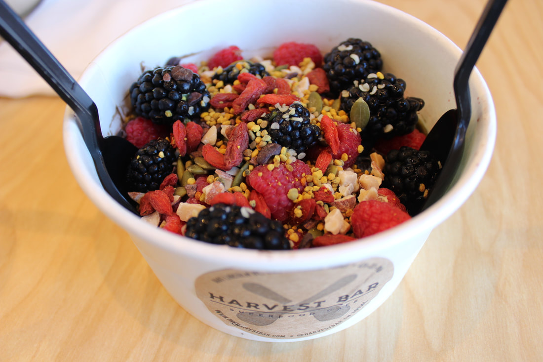 Acai Bowl at The Harvest Bar, Los Angeles